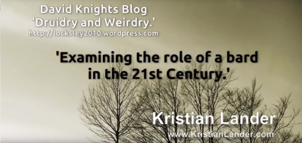 Our Curious World #4 David Knight – What is the role of a Bard in the 21st Century