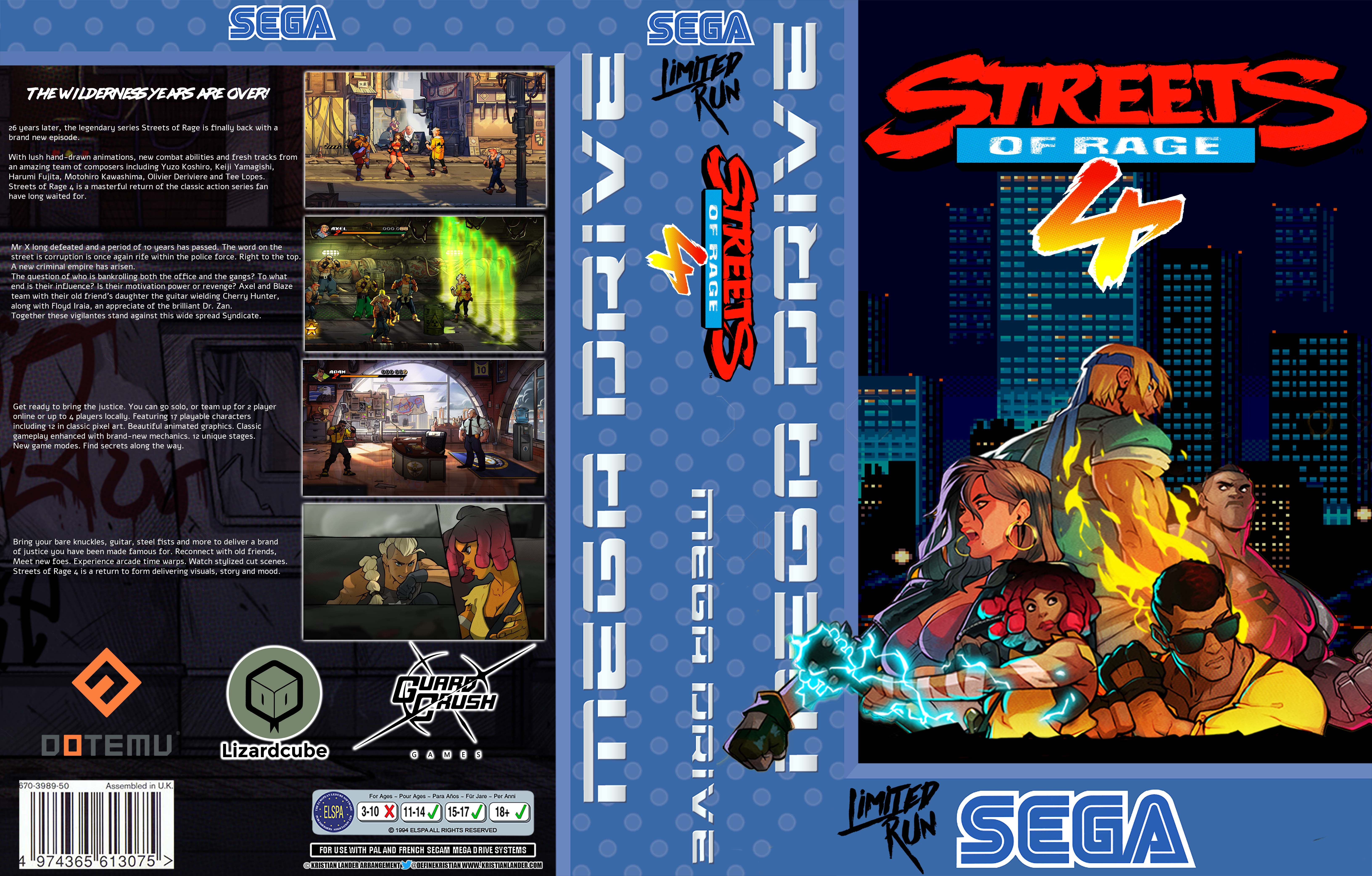 Custom Mega Drive cover art: Streets of Rage 4