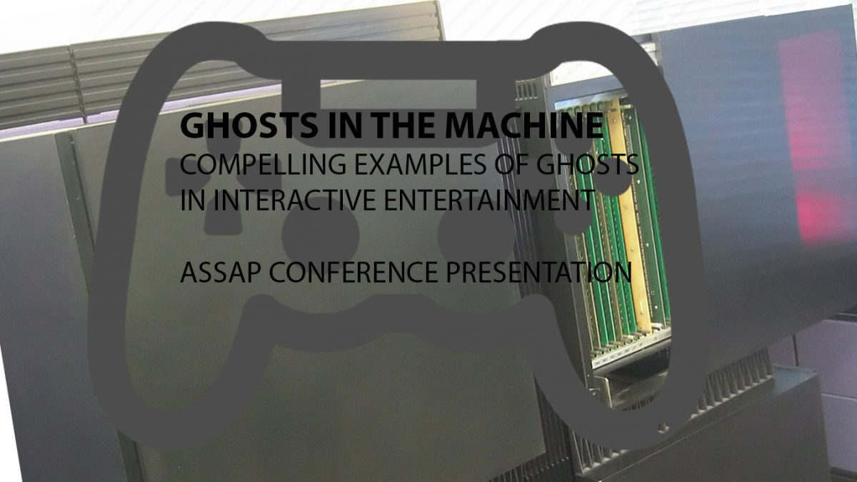 Presenting at the ASSAP Online conference on the 30th August – Ghosts in the machine