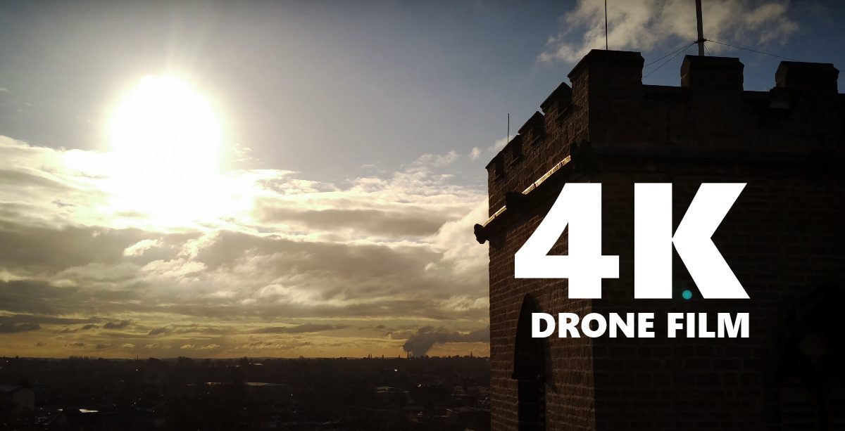 4K Drone video – St Marys Church Nottingham
