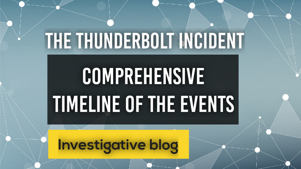The Thunderbolt Incident: Comprehensive Timeline of events