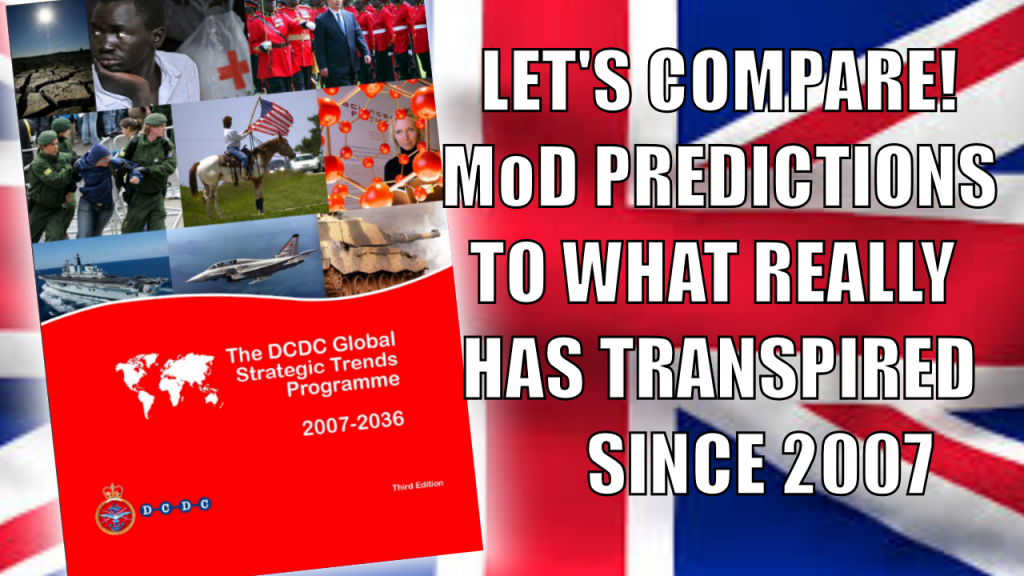 Lets compare leaked MoD predictions looking at future trends to what has really happened