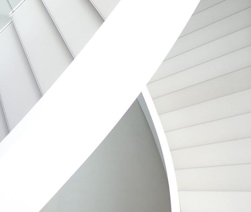 White Stairway. Architectural marvel!
