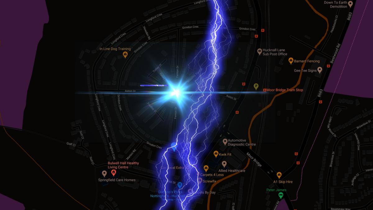 When lightning strikes inside the house!