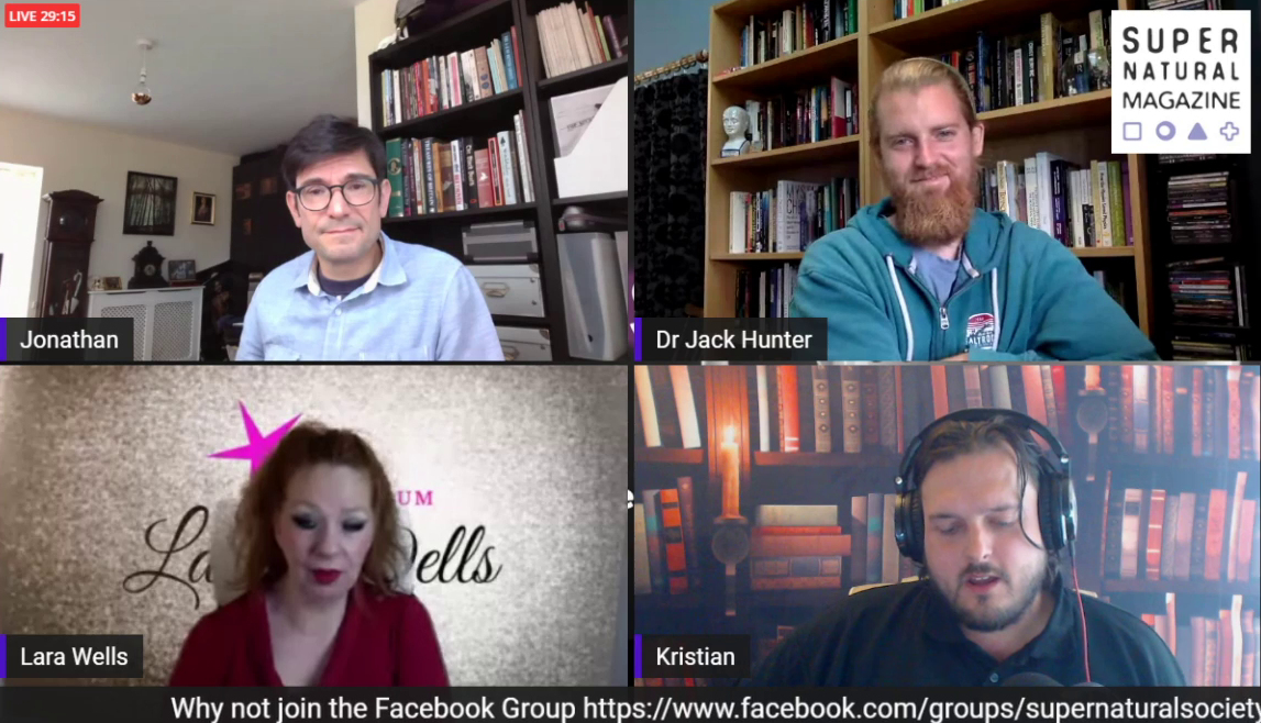 Dr Jack Hunter and I appear as guests on the Lets Talk Supernatural show