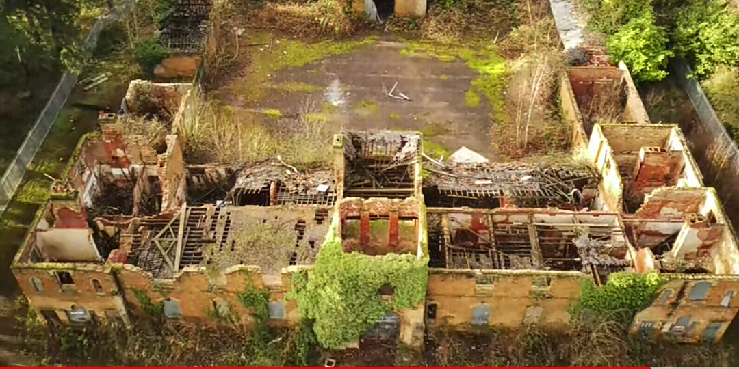 4K Drone video Bulwell Hall Nottingham