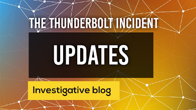 Thunderbolt Incident Updates: inc Forestry Commission response